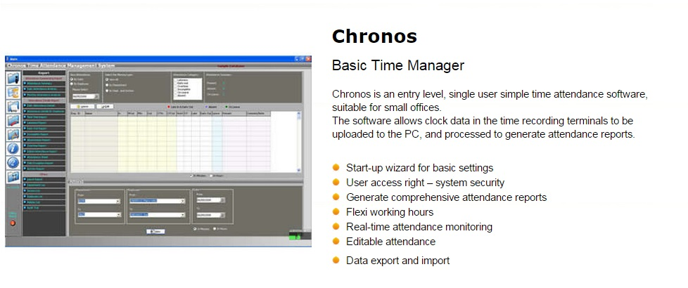 Time Attendance Software Chronos